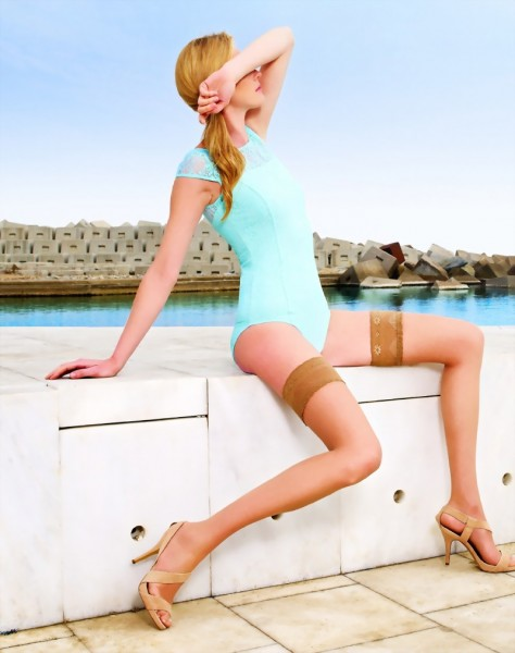 Gladde zomer stay ups Marbella 8 denier van Cecilia de Rafael
