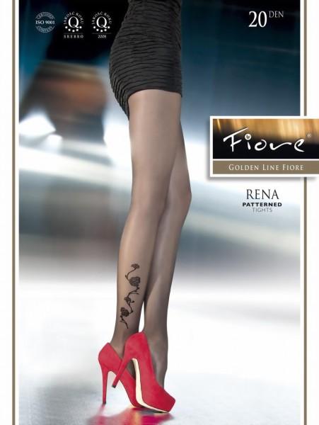 Exclusieve pantys met bloemenpatroon Rena van Fiore, 20 DEN