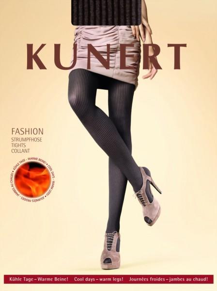 Trendy panty met streepjespatroon Warm Ribs van KUNERT
