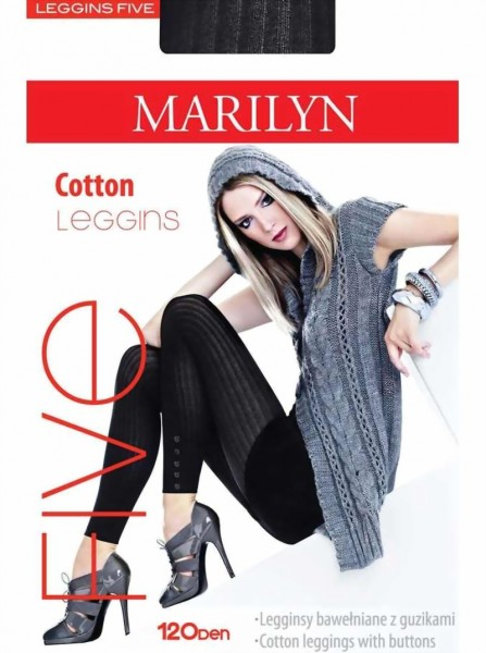 Katoenen legging Five van Marilyn 120 DEN