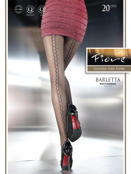 Pantys met zig zag patroon Barletta van Fiore, 20 DEN