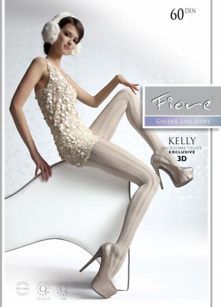 Elegante ondoorzichtige pantys met streepjespatroon Kelly van Fiore, 60 DEN