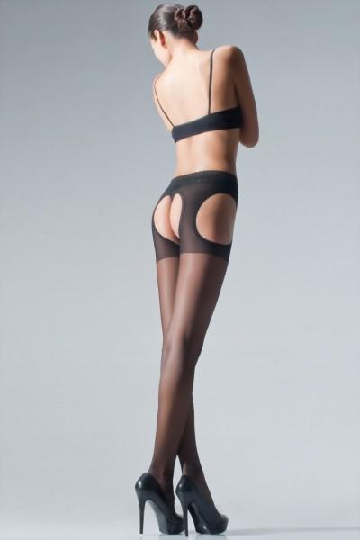 Strip panty met kanten tailleband Chariss van Cecilia de Rafael, 20 DEN