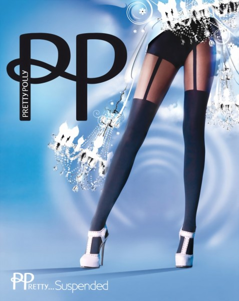 Trendy pantys met kousenmotief PPretty ... Suspended van Pretty Polly