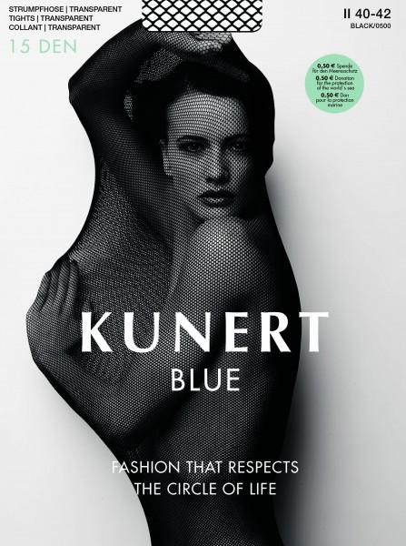 Gladde transparante panty Blue 15 van KUNERT