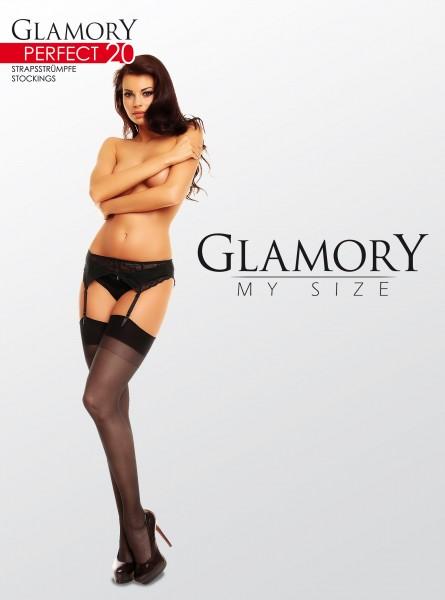 Grote maten jarretelkousen Perfect 20 van Glamory