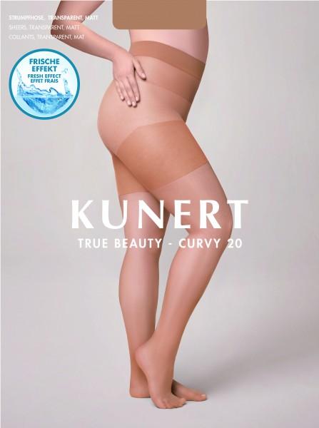 Gladde grote maten panty Curvy 20 True Beauty van Kunert