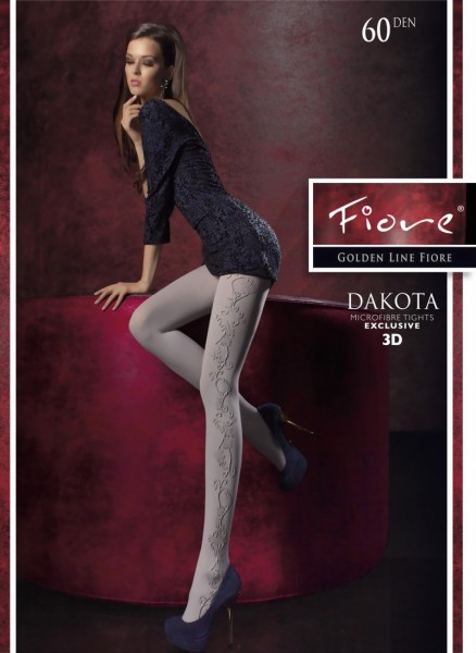 Elegante ondoorzichtige pantys met patroon Dakota van Fiore, 60 DEN