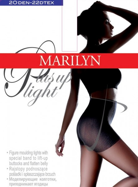 Figuurvormende steunpanty met push-up effect Plus Up Light van Marilyn