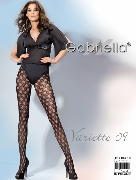 Elegante netpanty met een doorlopend patroon Variette 09 van Gabriella