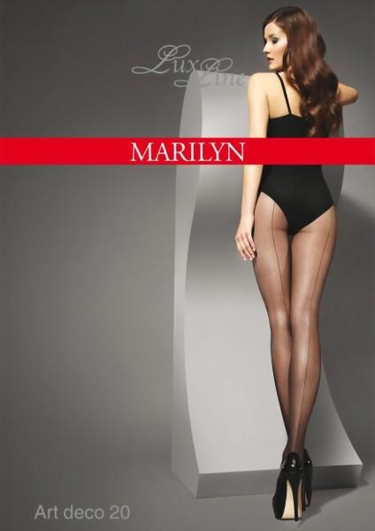 Klassieke elegante panty met achternaad Art Deco van Marilyn