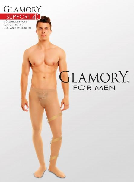Semi-opaque grote maten mannenpanty Support 40 van Glamory