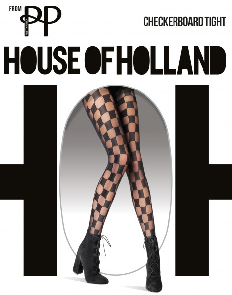 Trendy panty met schaakbordpatroon Checkerboard van House of Holland for Pretty Polly