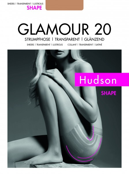 Fijne, figuurvormende glanzende panty Glamour 20 Shape van Hudson