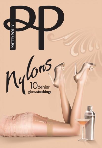 Gladde glanzende jarretelkousen Nylons Gloss 10 DEN van Pretty Polly