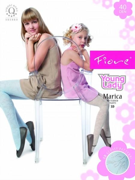 Elegante kinderpantys met bloemenpatroon Marica van Fiore