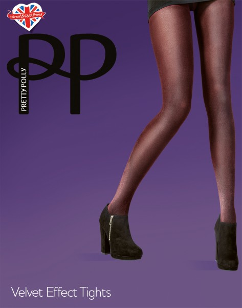 Opaque panty med velvet-effect van Pretty Polly