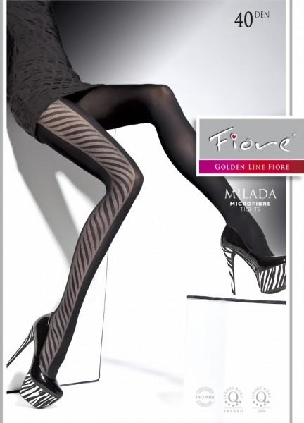 Elegante pantys met trendy patroon Milada van Fiore, 40 DEN