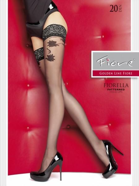 Elegante stay ups met bloemenpatroon Fiorella van Fiore, 20 DEN