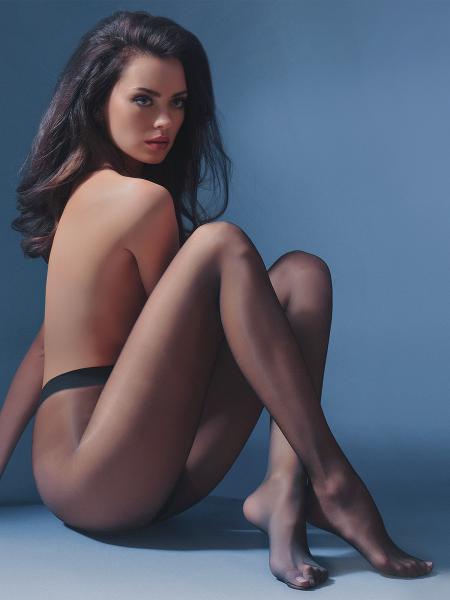 Klassieke panty, doorlopend transparant, Exclusive 10 van Gabriella