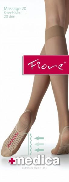 Gladde kniekousen met massage-effect 20 DEN van Fiore