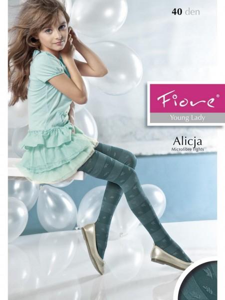 Gestreepte kinderpantys met bloemenpatroon Alicja van Fiore