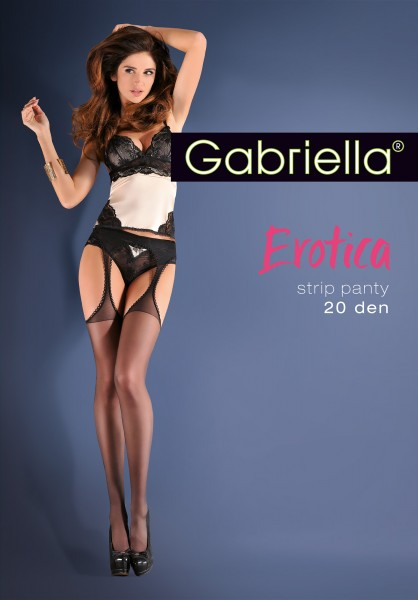 Gladde transparante Strip Panty van Gabriella