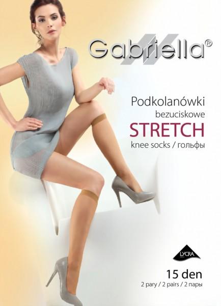 2 paar gladde kniekousen Stretch van Gabriella