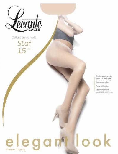 Klassieke gladde pantys Star van Levante, 15 DEN