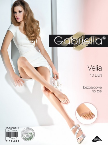 Gladde teenloze pantys Velia van Gabriella