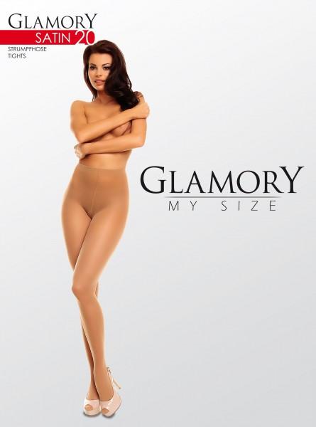 Glanzende grote maten panty Satin 20 van Glamory