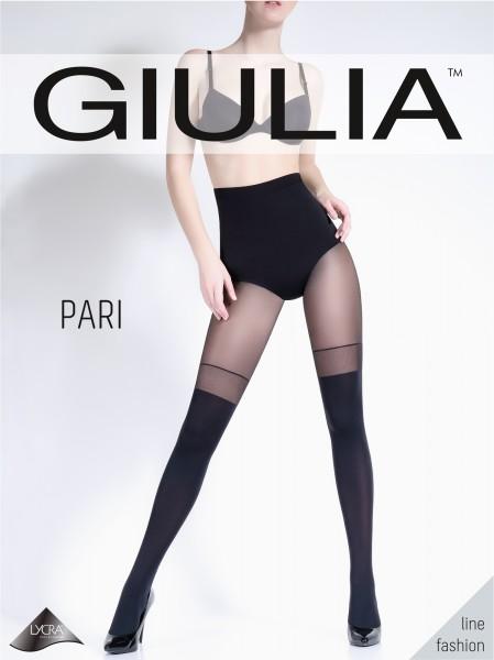 Giulia Pari 23 - Opaque panty met kousenmotief