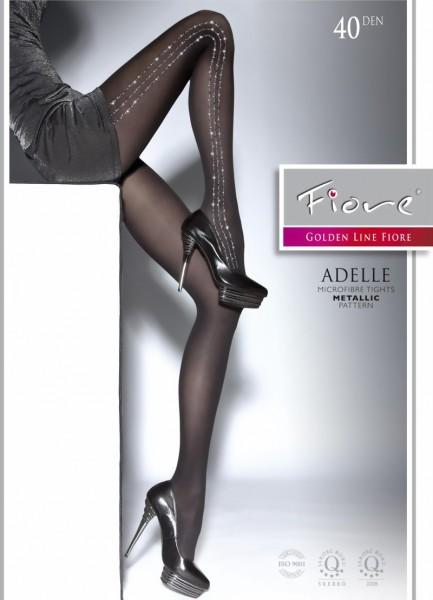 Elegante pantys met glanzend patroon Adelle van Fiore, 40 DEN