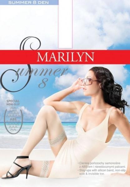 Gladde zomer stay ups met anti-slip noppen Summer 8 van Marilyn