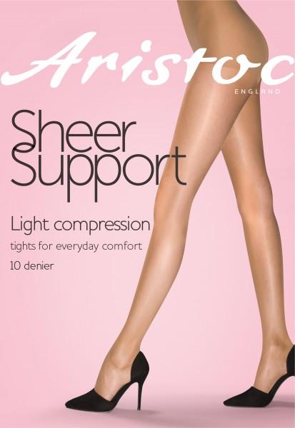 Transparante licht steungevende panty 10 denier Sheer Support van Aristoc