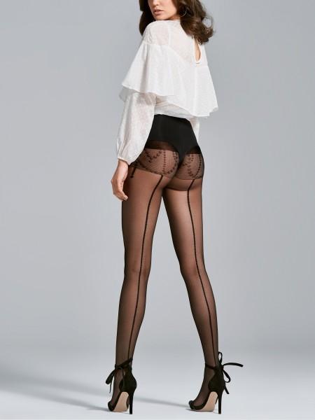 Panty met verleidelijk achternaad-look Love van Fiore, 20 DEN
