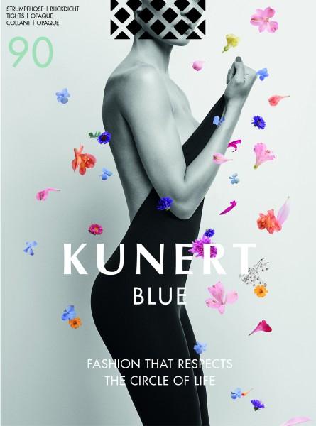 Opaque, biologisch afbreekbare panty Blue 90 van KUNERT
