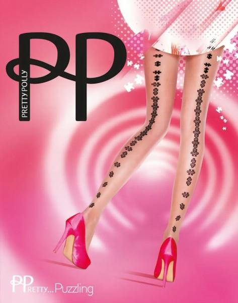 Trendy pantys met patroon in naad-optiek PPretty ... Puzzling van Pretty Polly