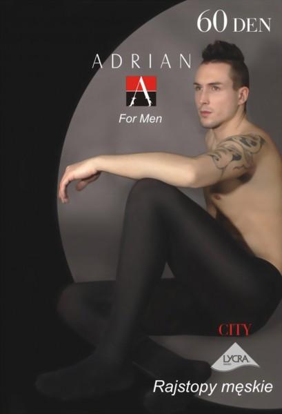 Ondoorzichtige mannenpanty City van Adrian, 60 DEN
