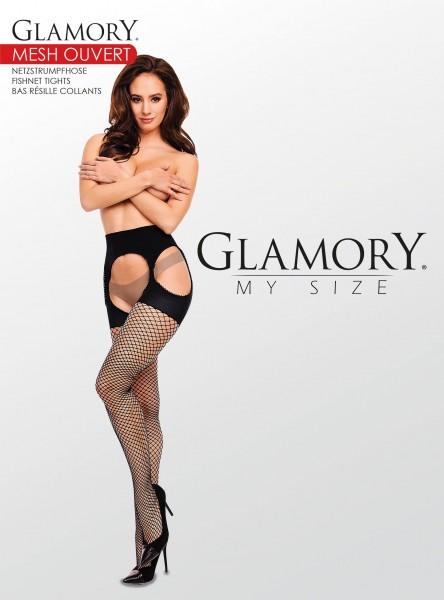 Grote maten netpanty in straps-optiek Mesh Ouvert van Glamory