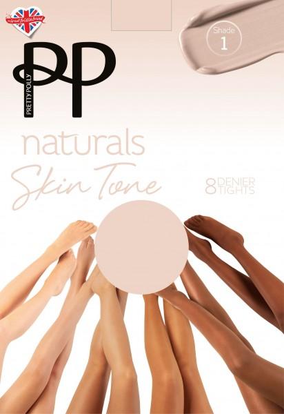 Panty voor alle soorten van huidtinten Naturals Skin Tones 8 DEN van Pretty Polly