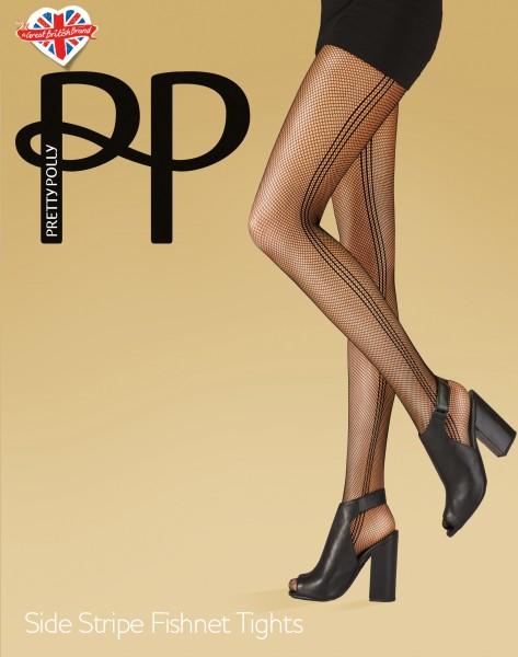 Netpanty met patroon Side Stripe van Pretty Polly