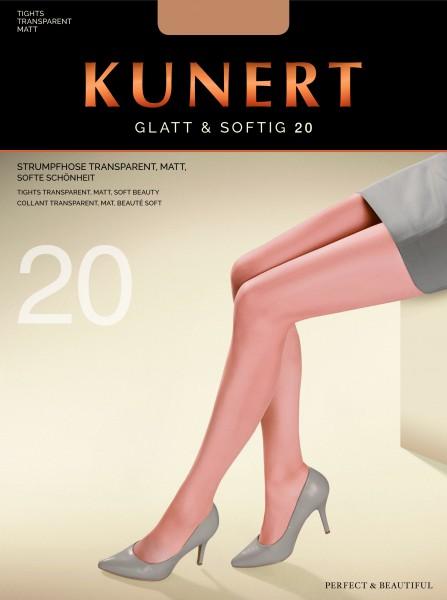 Klassieke gladde panty Glatt & Softig 20 van KUNERT