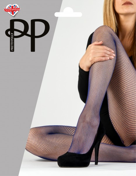 Zachte netpanty in trendy kleuren Coloured Fishnet Tights van Pretty Polly