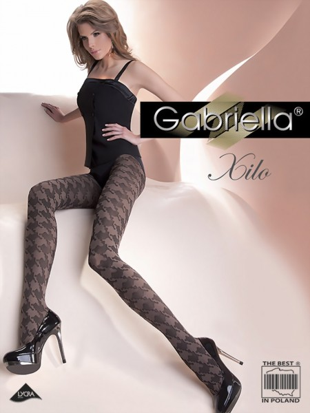 Trendy pantys met pied-de-poule patroon Xilo van Gabriella