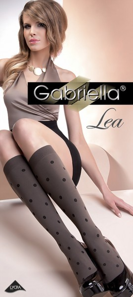 Trendy kniekousen met puntenpatroon Lea van Gabriella