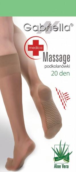 Gladde kniekousen met voetmassage-effect Massage 20 denier van Gabriella