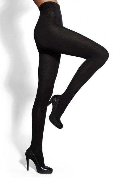 Gladde opaque panty met katoen en wol Arctica 140 van Marilyn