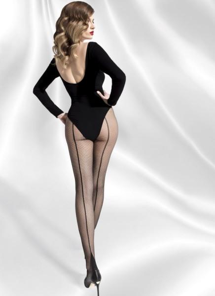Elegante panty met patroon in netoptiek en achternaad Veronica van Annes