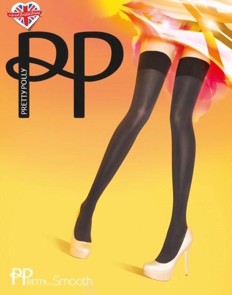 Gladde ondoorzichtige stay ups PPretty ... Smooth van Pretty Polly, zwart